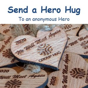 Group Hug App - Send a Hero Hug