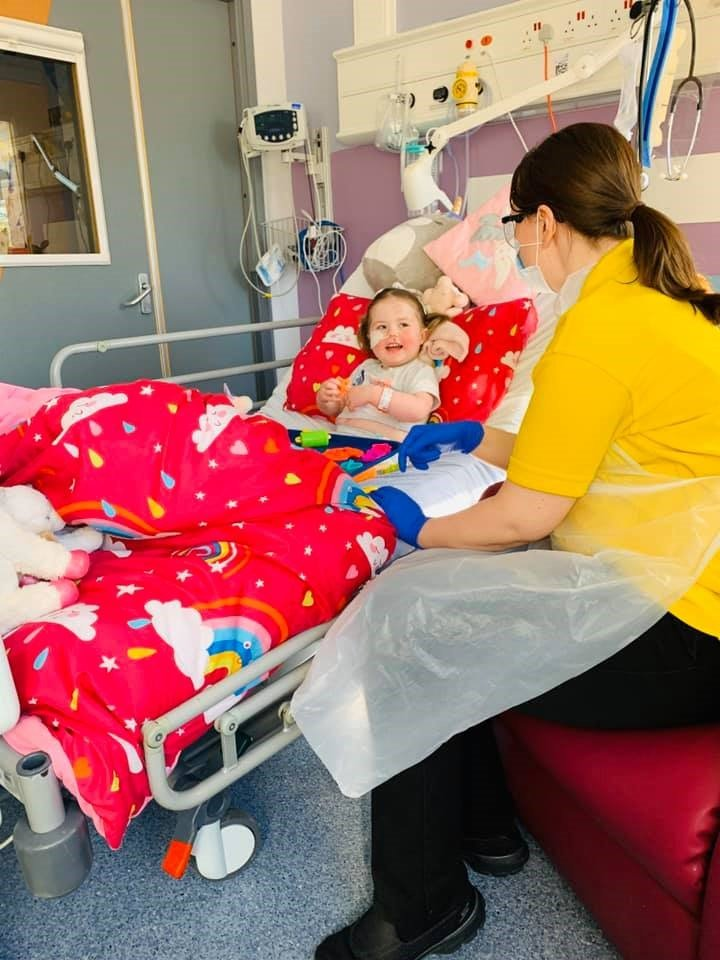 Emily at Leeds Children's hospital