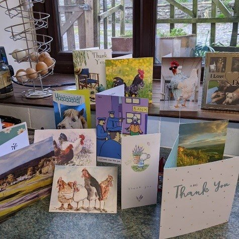 Thank You Cards from the We Will Meet Again Goody Bags